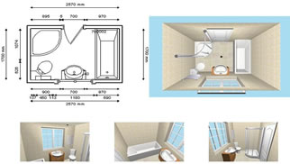 design kitchen layout with dimensions